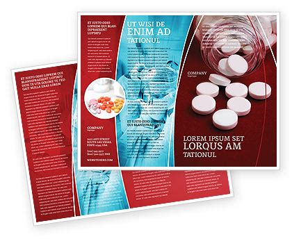 Pills From The Bottle Brochure Template Design And Layout Download Now 02414 Poweredtemplate Com Medication Brochure Templates Free