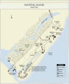 carolina state parks map island sc cground map island state