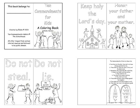 printable coloring pages ten commandments mini book commotion from the of