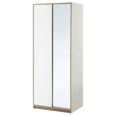 ikea haushaltsschrank trysil armoire penderie blanc miroir 79x61x202 cm ikea