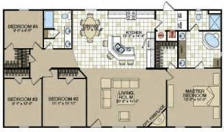 4 bedroom wide floor plans 1000 images about double wide mobile home floor plans on