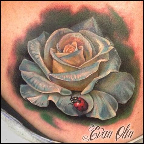 rose and ladybug tattoo powerline tattoos evan olin color