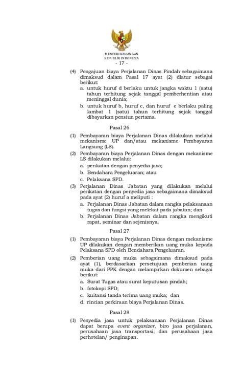 Surat Tugas Perjalanan Dinas Dan Anggaran by Pmk 113 Tahun 2012 Tentang Perjalanan Dinas