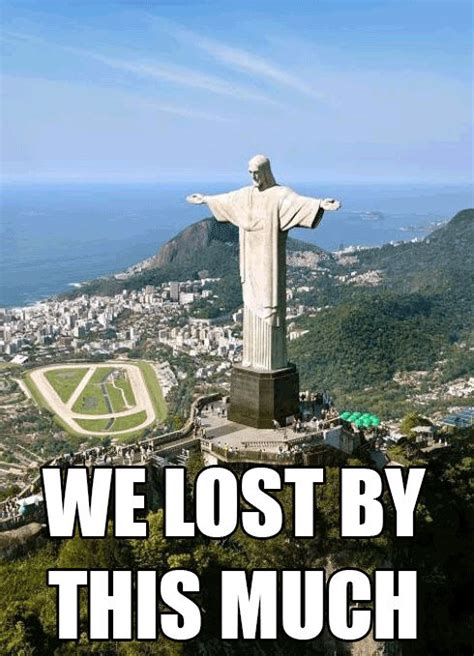 Brazil Meme - we lost by this much brazil vs germany meme weknowmemes