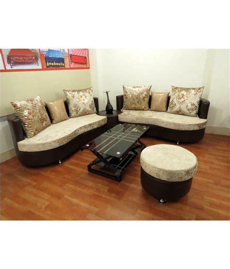 irony sofa set irony 4 seater sofa set in orange best price in india on