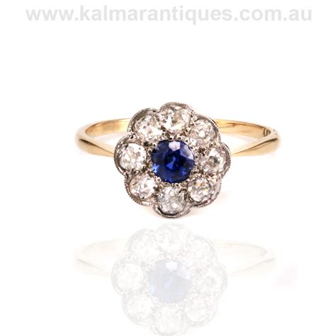 edwardian era antique sapphire and ring