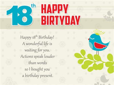 Happy 18th Birthday Wishes Quotes 18th Birthday Wishes Messages And Greeting Cards 9