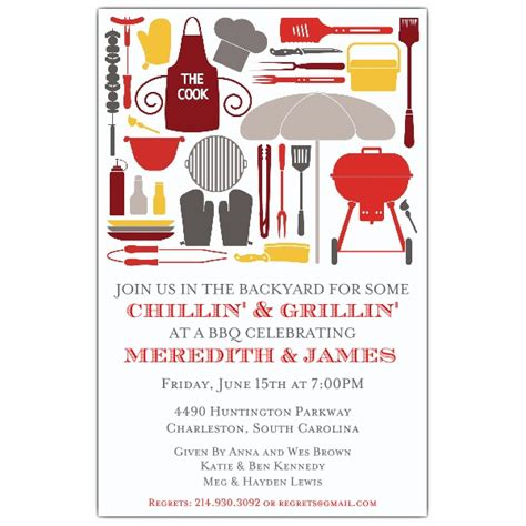 cookout silhouettes bbq invitations paperstyle