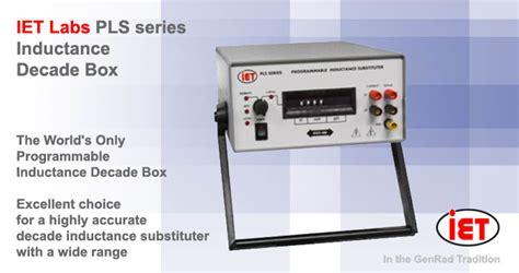 programmable resistor decade box pls series programmable inductance decade boxes decade inductors ac dc measuring instruments