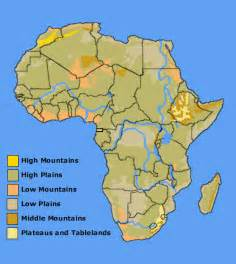 africa map rivers lakes mountains aas 101