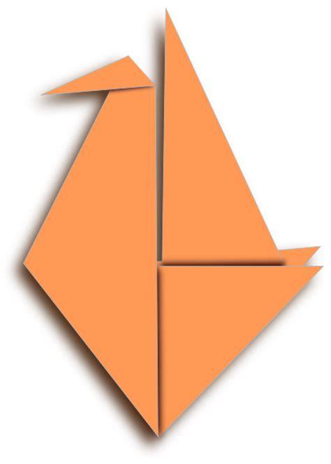 Origami Clipart - orange origami bird clip at clker vector clip