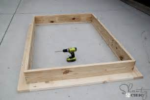 Building A Simple Platform Bed Frame by Easy Diy Platform Bed Shanty 2 Chic