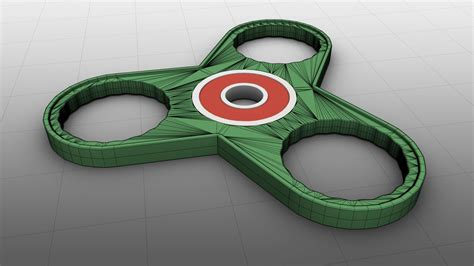 Spinner Model 3d printable fidget triangle bearing spinner 3d