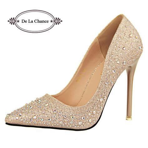 Rhinestone Platform Pumps aliexpress buy 2016 new fashion silver