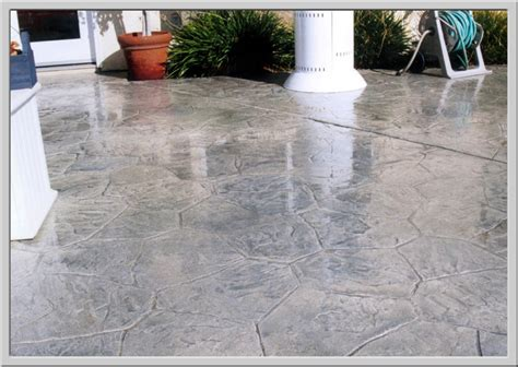 stained concrete patio images