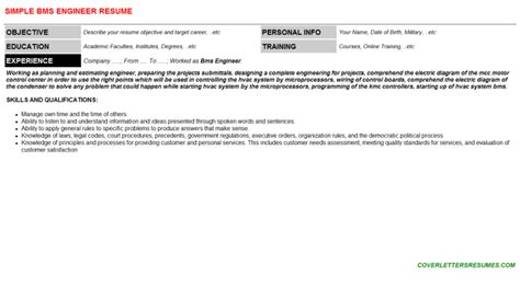 bms resume resume ideas