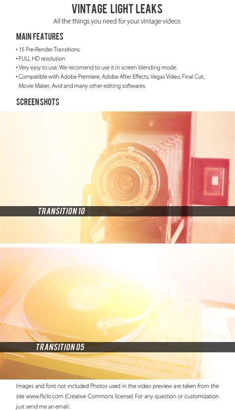 gopro intro template videohive vintage light leaks 187 free after effects
