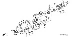 2000 Honda Civic Exhaust System Diagram Honda Store 2000 Civic Exhaust Pipe Parts