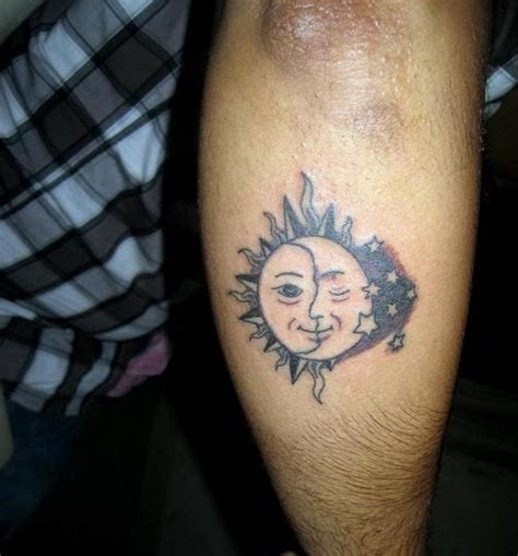 funny tattoos for men sun and moon tattoos for cool tattoos
