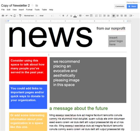 drive newspaper template docs newsletter template playbestonlinegames