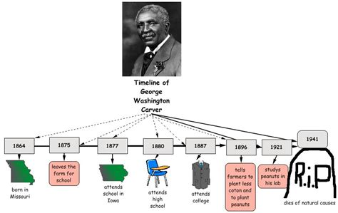 biography of george washington carver timeline third grade biographies geroge washington carver by collin