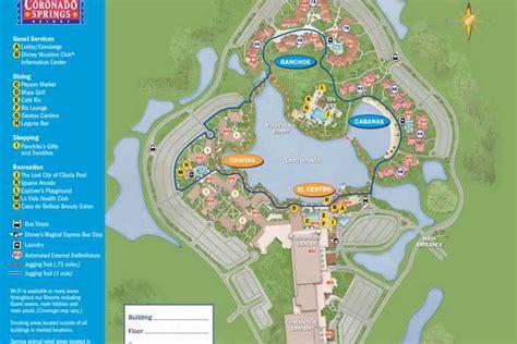 el magic resort map disney s coronado springs resort