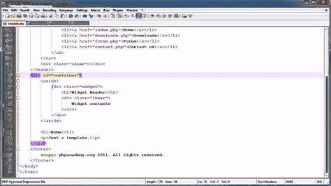 php tutorial register and login php tutorials register login part 2 template