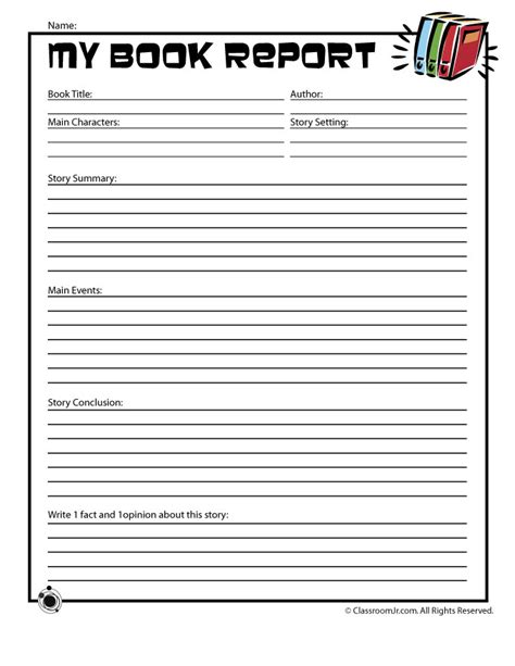 Grade Book Report Template free printable book report templates best business template