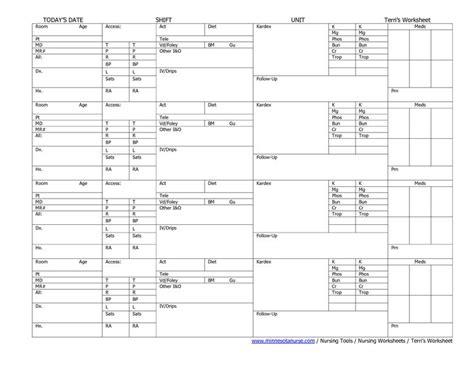 Nursing Worksheets by Nursing Worksheets Printable Sle Nursing Worksheet