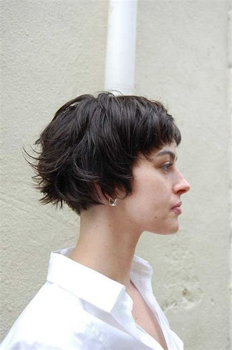 womans short hairstyle for thick brown hair magnificent short haircuts for thick hair women s fave