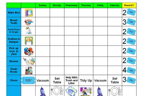 10 best images of behavior charts for home at home
