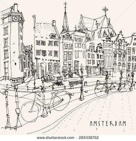 netherlands buildings map amsterdam netherlands view of center with