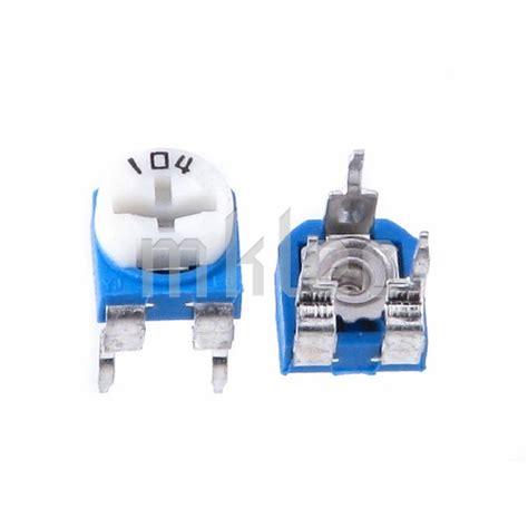 100k trimmer resistor 100k ohms 104 trimmer potentiometer