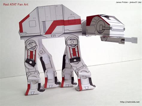 Papercraft At At - ninjatoes papercraft weblog papercraft pop lock