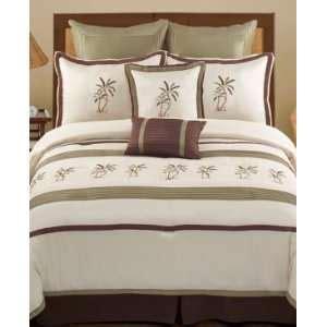 Montego Bay Comforter Set by Flamingo Palm Tree King Comforter Sheet Bed In A Bag Set