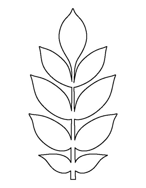 free leaf template pin by muse printables on printable patterns at