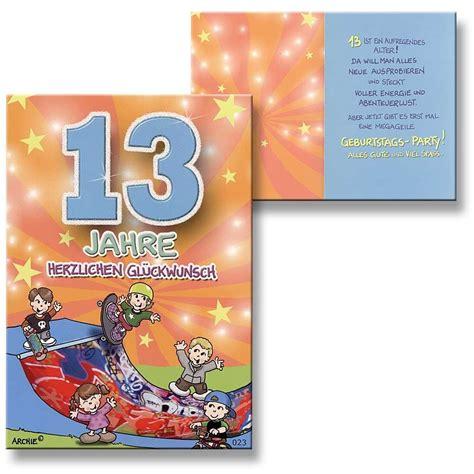 Sprüche Freiheit by Gl 252 Ckw 252 Nsche Zum 13 Geburtstag Junge