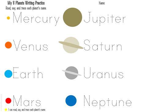 printable worksheets solar system kindergarten papercharm free 1st grade planet printables