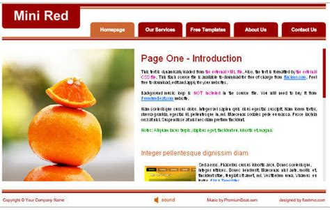 Collection Of Free Flash Website Templates With Fla Source Files Free Flash Website Templates With Source Files