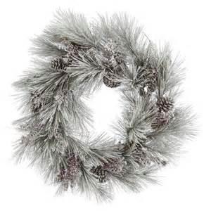 vickerman flocked ponderosa wreath wreaths