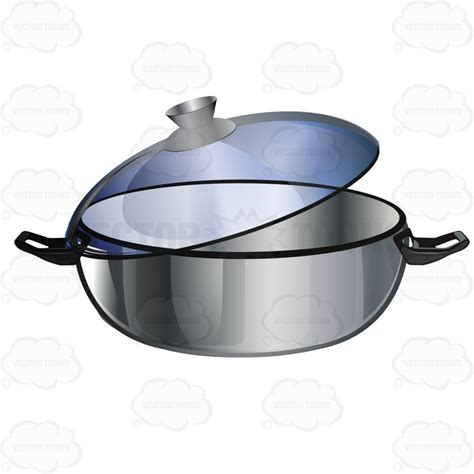 Free Kitchen Design Software dutch oven type of pan with clear lid stock cartoon