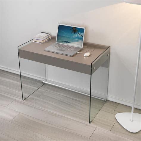 scrivania vetro temperato scrivania porta computer 100x55x73h cm in vetro temperato