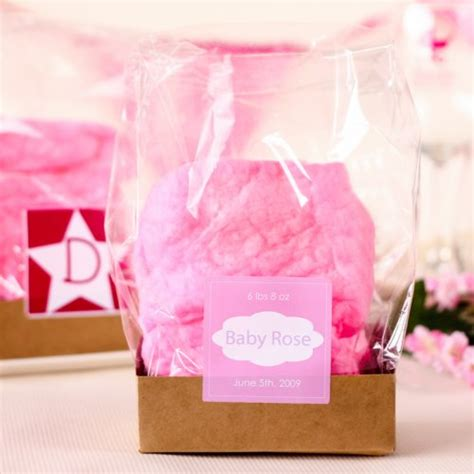 Cotton Baby Shower Favors by Cotton Baby Shower Favor With Personalized Label