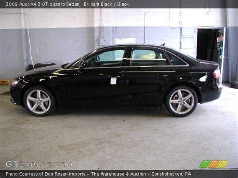 audi a4 2009 black brilliant black 2009 audi a4 2 0t quattro sedan black