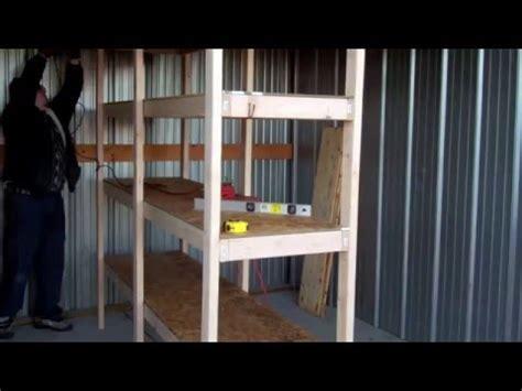 build cheap shelves garage storage youtube