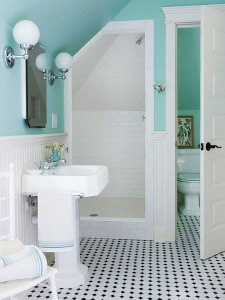 Turquoise And White Bathroom by Turquoise And White Bathroom Vintagetilefloor Bath