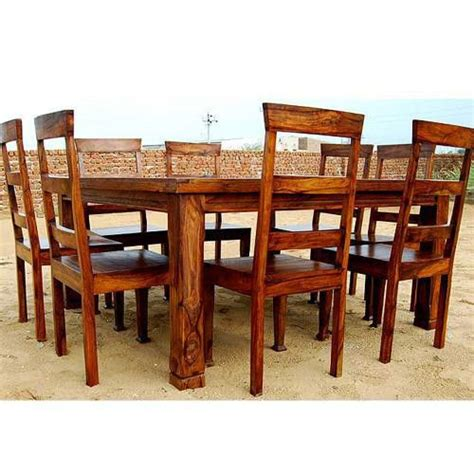 8 Person Dining Table Set Rustic 9 Pc Square Dining Room Table For 8 Person Seat Chairs Set Fur