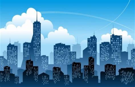 kota modern biru vektor ilustrasi vektor misc vektor gratis  gratis