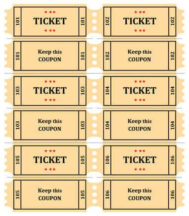 free template for raffle tickets with numbers 15 free raffle ticket templates in microsoft word mail merge