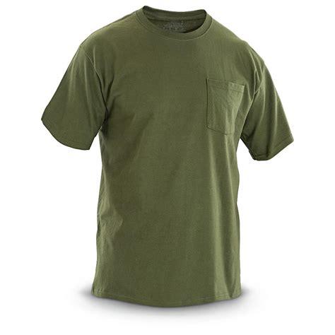 T Shirt 6 u s surplus pocket t shirts 6 pack new 301194 t shirts at sportsman s guide